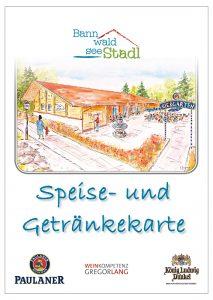 Speise- und Getränkekarte Bannwaldsee-Stadl